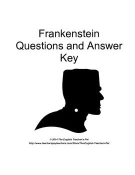 Shelley S Frankenstein Chapter Questions And Answer Key In 2020 Teacher Books This Or That Questions Teacher Must Haves