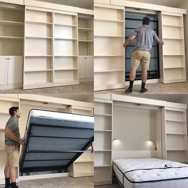 The top Murphy Bed store for Murphy Bed Frame Hardware Kits and Wall Bed Cabinet Systems Since Lowest Price Guaranteed. Shop now and create more room today. Murphy Bed Frame, Best Murphy Bed, Murphy Bed Desk, Murphy Bed Plans, Diy Murphy Bed, Murphy Bed Office, Murphy Bef, Queen Murphy Bed, One Room Flat