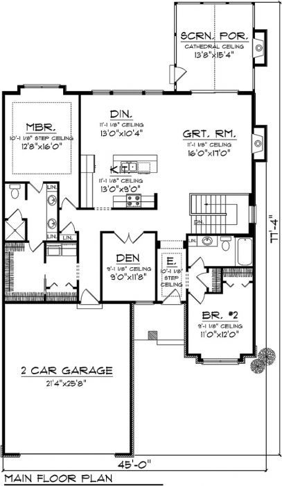 41413 Ranch Style House Plans Ranch House Plans Luxury Ranch House Plans