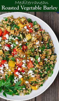 Mediterranean Roasted Vegetables Barley | Recipe