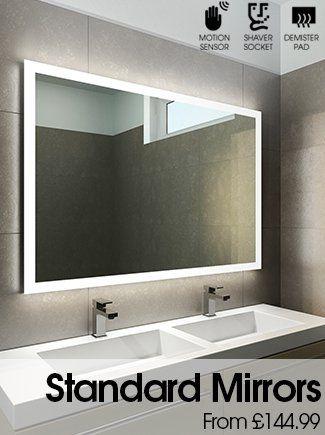 Halo Tall Led Light Bathroom Mirror