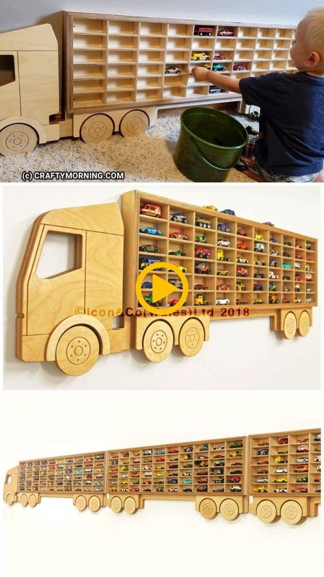 Hot Wheels Storage Shelf (Organization)- Kids toy organizing. Kids cars ways to ...
