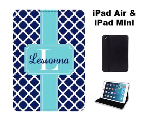 Personalized Ipad Case Air Mini Monogram Folio Cover Tablet Adjule Stand 39 00 Usd By