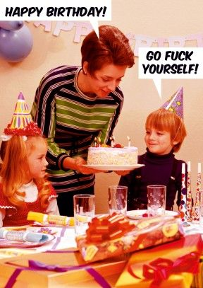 Go Fk Yourself Birthday Card happybirthday birthday rude