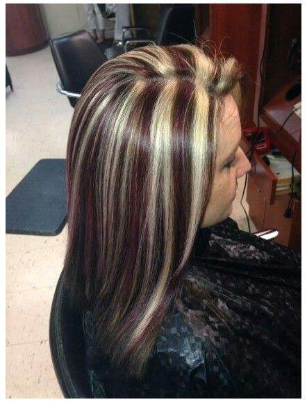 Dark Brown Hair With Highlights And Lowlights Blonde Streaks Red Brown In 2020 Brown Blonde Hair Brown Hair With Blonde Highlights Brown Hair With Highlights