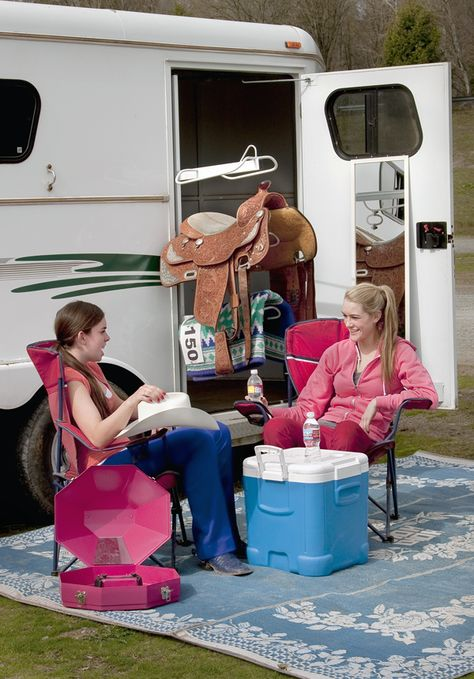 Turn Your Horse Trailer into an All-Purpose Base of Operations. Here's how to turn your parked horse trailer into an all-purpose base of operations when you haul in to a show or other horse event.