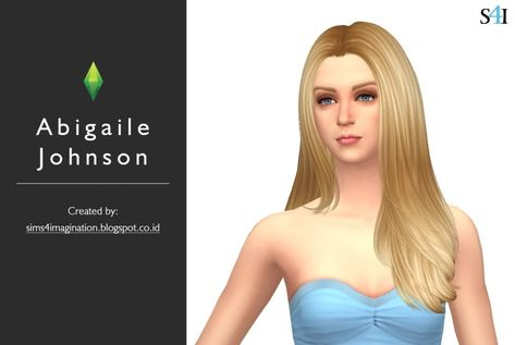 Sims of American Adult Actress's Abigaile Johnson.   If you want the same image from CAS, then you need a complete CC is available ...