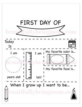 First Day of School Chalkboard Sign with Free Printable Files - Melissa Chrisner - Beautifully Being Mom
