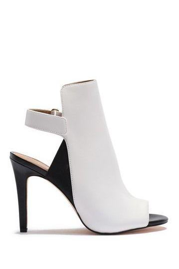 Calvin Klein Sandria Leather Peep Toe