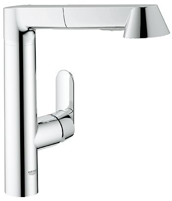 Grohe 32 178 00e K7 Watercare Main Sink Dual Spray Pull Out Kitchen Faucet In Starlight Chrome 627 28 Plumbing Pull Out Kitchen Faucet Kitchen Faucet Faucet