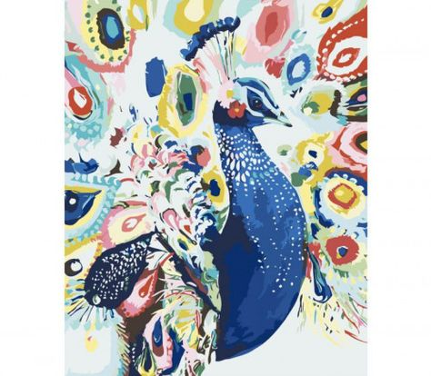 Bright Peacock Paint by number kit Paint by numbers kit DIY