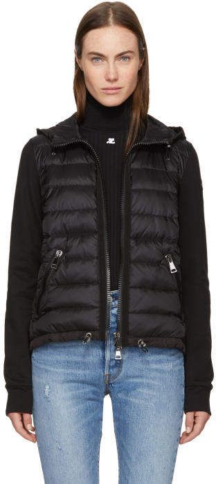 165c665c8 Moncler Black Down and Jersey Jacket | clothes | Jackets, Black down ...