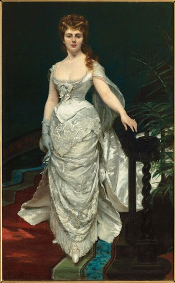 Portrait of Mademoiselle X, Marquise Anforti, 1875 by Charles Auguste Émile…