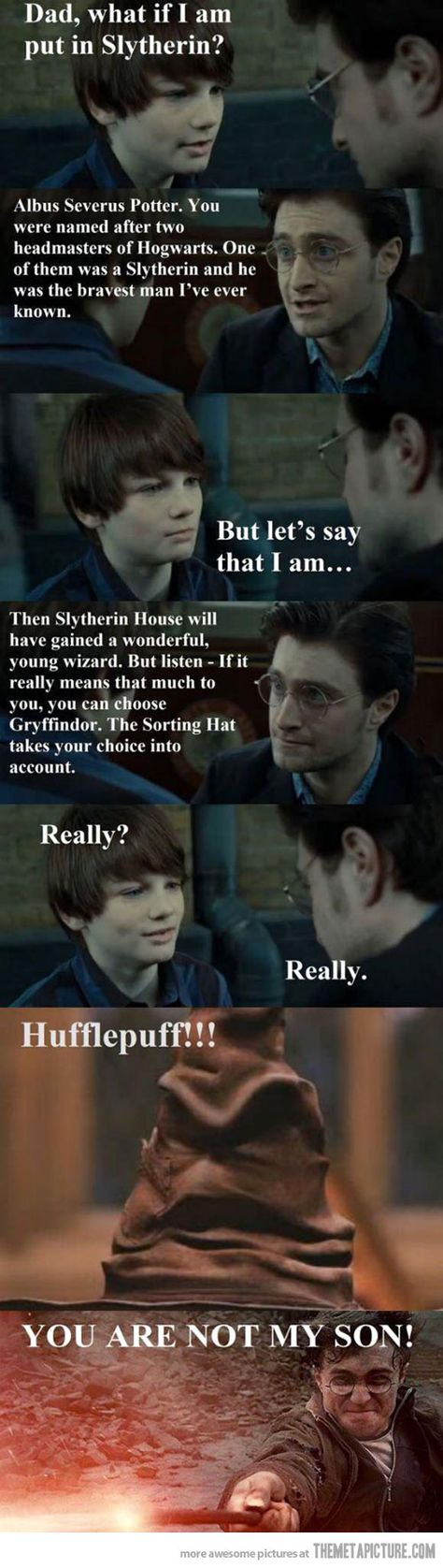 """""""What If I'm Put In Slytherin?"""" A funny parody involving Harry's son Albus, after that heart-to-heart Father-Son talk at the end of the series..."""