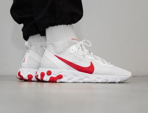 buying cheap authentic where can i buy Nike React Element 55 blanche et rouge (2019) | Nike en 2019 ...