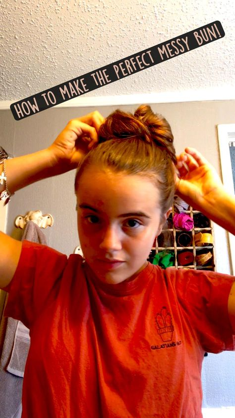 How to make the perfect messy bun!