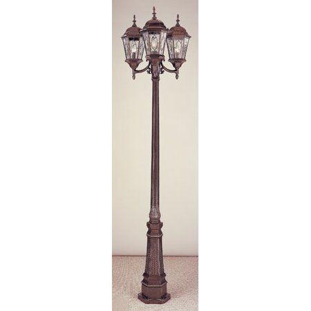 Alcott Hill Hensen 3 Light 96 Post Light Walmart Com Lamp Post Lights Post Lights Outdoor Wall Lantern