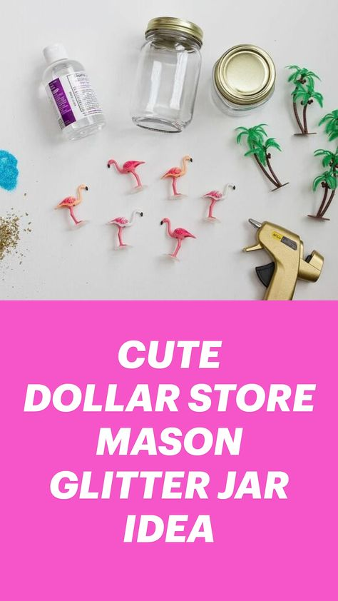 CUTE DOLLAR STORE MASON CRAFT IDEA