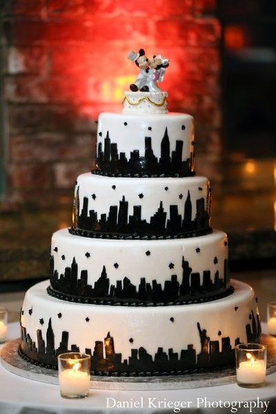 New york themed wedding cake toppers