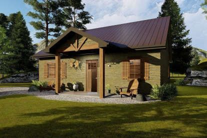 House Plan 5633 00164 Cabin Plan 809 Square Feet 1 Bedroom 1 Bathroom Cabin House Plans Cottage Plan Vacation House Plans