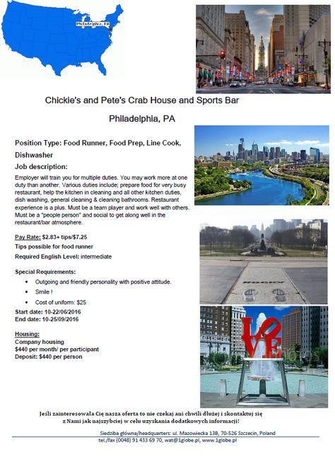 McDonald New York City Work and Travel USA 2016 OneGlobeTravel - prep cook job description