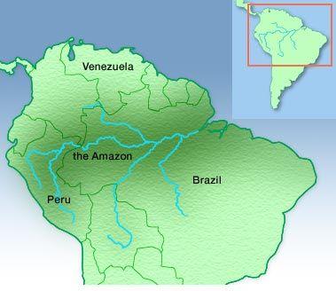 Amazon River South America Amazon River Pinterest Amazon - Amazon river map