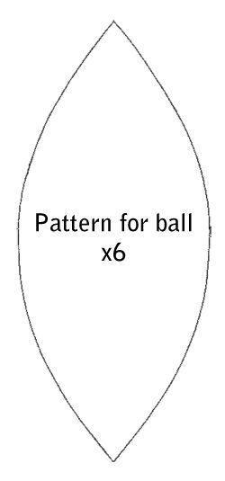 six piece sphere template - Buscar con Google Christmas Ornaments