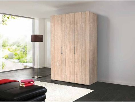 3 Trg Drehturenschrank In Sonoma Eiche Nachbildung Mit Bugelgriffen A Tall Cabinet Storage Home Decor Furniture
