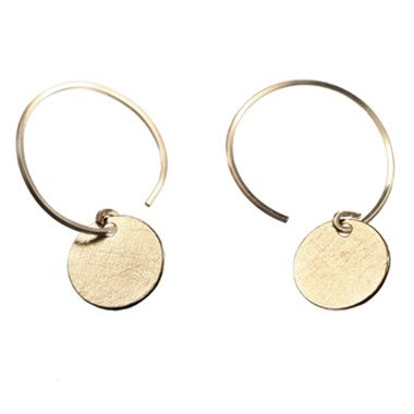 Delicate Gold Disc Earrings from By Boe (the matching necklace wouldn't hurt either).