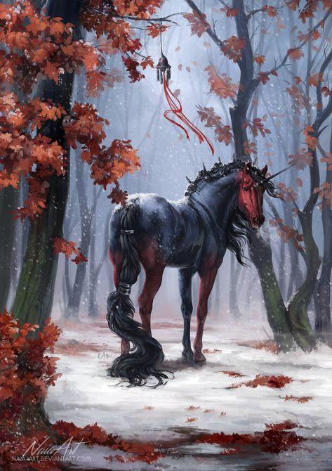 -= Secret Santa: Mystic silence =- by Naia-Art Mystical Animals, Fantasy Artwork, Mythical Animal, Fantasy Art, Mythical Creatures, Creature Art, Art, Dark Fantasy Art, Fantasy Horses