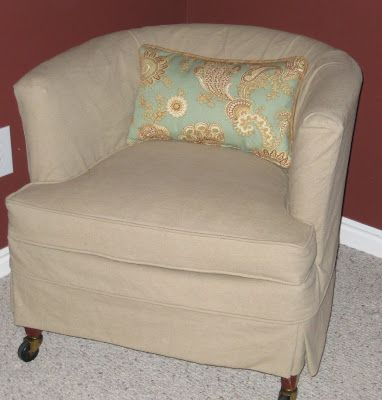 Gentil I Need To Find This Slipcover For Barrel Chair | DIY Projects | Pinterest.