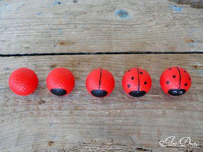 Golf ball ladybugs