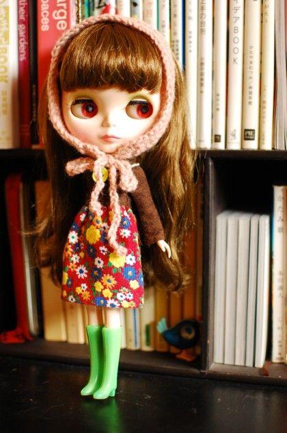 ブライスの超簡単ワンピース3種 ロンドン下町暮らしのスタイル帖 人形の型紙 ブライス スタイル