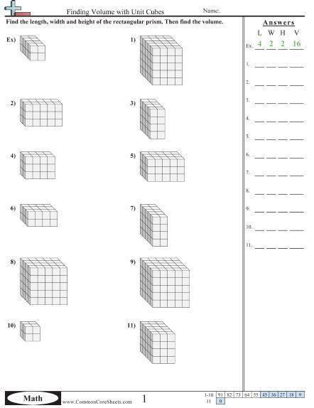 5th Grade Volume Unit Cubes Worksheet Volume Worksheets Volume Math Math Worksheets 5th grade volume worksheets