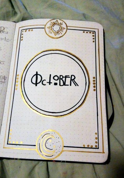 Bullet Journal Lettering Ideas, Bullet Journal Cover Ideas, Bullet Journal Printables, Bullet Journal Books, Bullet Journal Inspo, Bullet Journal Ideas Pages, Bullet Journal Layout, Book Journal, Bullet Journal October
