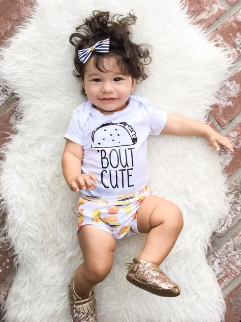 e4ee38253 Taco bout cute, baby gift, taco outfit, funny baby shirt, baby shower gift,  new baby gift, birthday outfit, taco tuesday, gifts for mom