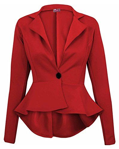 Womens Slim Fitness Shrug Blazer Coat Casual Work Smart Suit Outwear Jacket UK