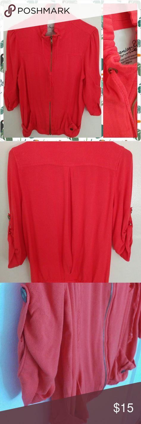 American Rag Burnt Orange Jacket American Rag Burnt Orange Jacket W/ pockets 100% Rayon American Rag Jackets & Coats Utility Jackets