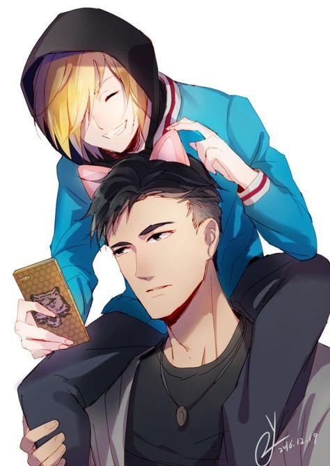 Credit to the artist #yurio #yuri #otabek #altin #yaoi #otayuri #yurionice  #yoi #anime #fanart #edit #gay #cute #couple #sweet #babie #hair #drawing  ...