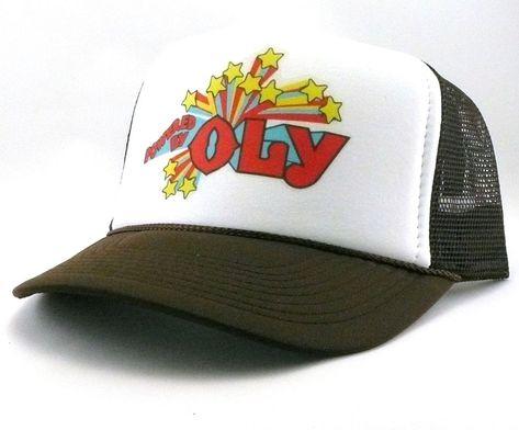 9480b8267af Olympia Beer Trucker Hat mesh hat snapback hat brown Powered by OLY vintage   TruckerHat  TruckerHat