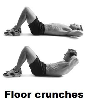 Abs Training Floor Crunches Exercise With Images Crunches