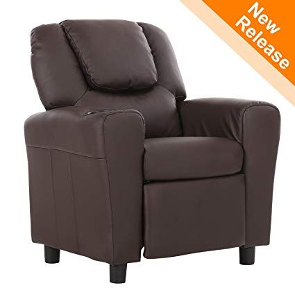 Lch Kids Recliner With Cup Holder And Headrest Mini Little Small