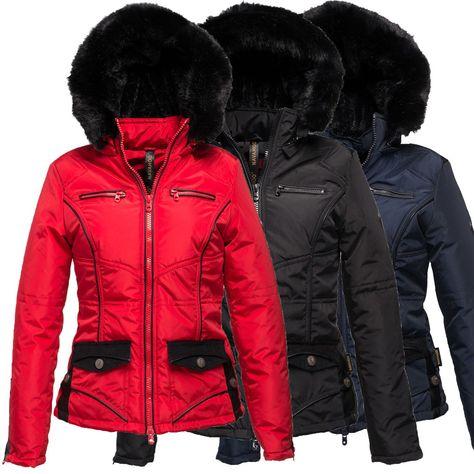 Damen Winterjacke Stepp Parka Mantel Wame gefüttert Teddyfleece Jacke Steppjacke