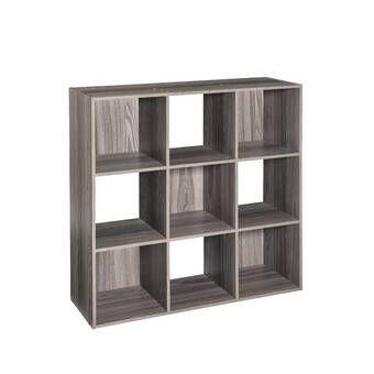 Cubeicals 35 85 H X 35 79 W Step Bookcase With Bins Cube Storage Cube Bookcase Closetmaid