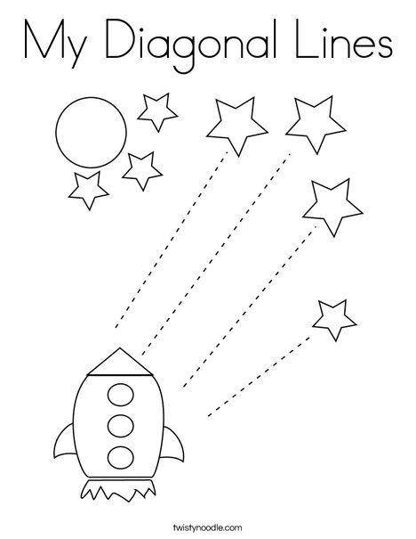 My Diagonal Lines Coloring Page Twisty Noodle Tracing Worksheets Preschool Preschool Tracing Kids Worksheets Preschool