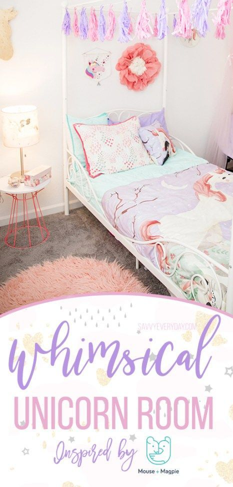 Whimsical Unicorn Bedroom Inspired By Mouse Magpie Unicorn