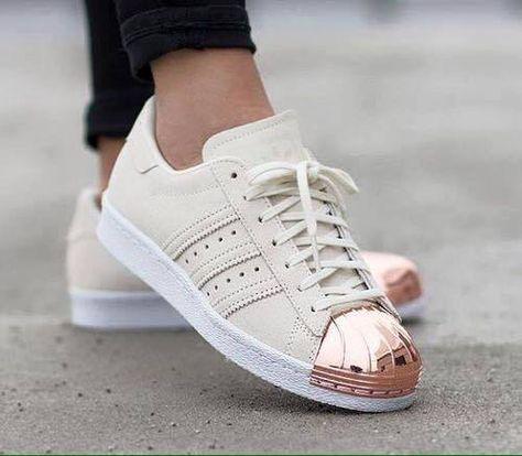 ADIDAS SUPERSTAR METALL Toe 41 Rose Neu Hipster Sneaker
