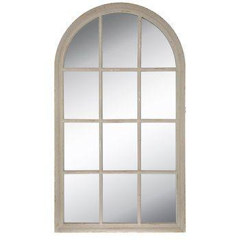 Black Cathedral Arch Wood Wall Mirror Mirror Wall Grey Wall