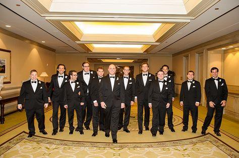 Lauren + Zach featured in @dweddings Most Popular Dallas Weddings of 2014 | Grooms Men | @blombergphoto