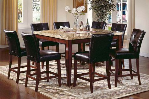 Marvelous Montibello Gathering Table 8 Stools Florida Decorating Gmtry Best Dining Table And Chair Ideas Images Gmtryco